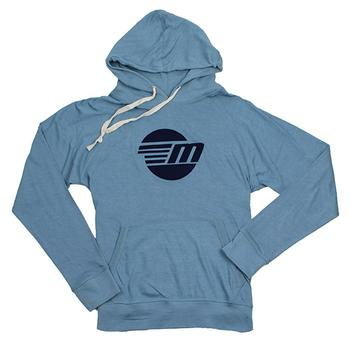 Bonfire Pullover Hoodie Tee - Denim Heather