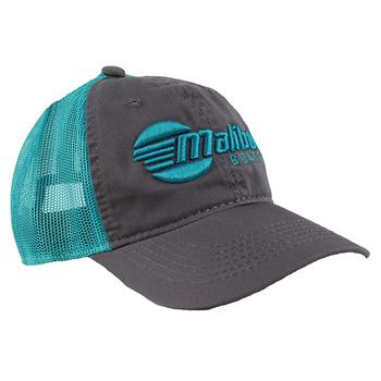 Ladies Relaxed Cap - Charcoal / Teal