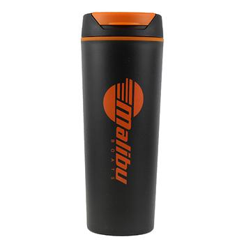 18oz Travel Tumbler - Black / Orange