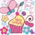 "Napkin-Birthday-Cupcake ""filled with joy"": 0759830211864"
