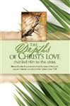Bulletin-Palm Sunday: Depths Of Christ's Love: 081407007236