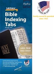 Bible Tab-Large Print -Gold: 084371583416