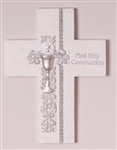 Wall Cross-Communion w/Silver Scroll: 089945498882