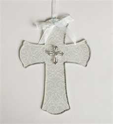 Wedding Wall Cross with Cross Embellishment: 089945517262