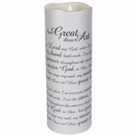 Candle-Flameless Flicker-Sonnet-How Great Thou Art w/Timer-Vanilla: 096069104636