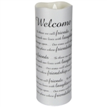 Candle-Flameless Flicker-Sonnet-Welcome w/Timer-Vanilla: 096069104643