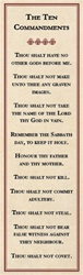 10 Commandments Bookmark - Tan