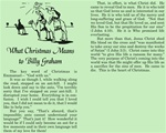 What Christmas Means to Billy Graham