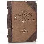 Bible Cover-Classic-Be Strong And Courageous: 6006937131477