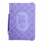 Bible Cover-Classic LuxLeather-Trust In The Lord-Large: 6006937139886