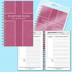 Notebook-Scripture Notes Bible Study: 634989819027