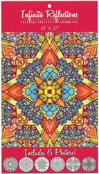 Infinite Reflections Adult Coloring Posters: 641585032910