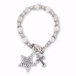 Bracelet-Beaded Toggle-Clear Star: 689746191120