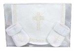 Baby Gift Set-Bib/Cross Sock Set: 725826788191