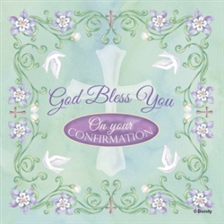 Napkin-Confirmation - God Bless You on your Confirmation: 759830256056