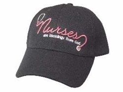 Cap-Nurse Blessings From God-Black/Pink: 788200539093