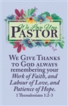 Bulletin-Love You Pastor: 815404019646