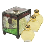 Anointing Oil-Stained Glass Box W/3 Oils: 845246005910