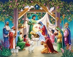 Large Advent Calendar-Magi At The Manger: 871241002845
