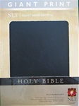 NLT Holy Bible, Giant Print Black Bonded Leather: 9781414337500