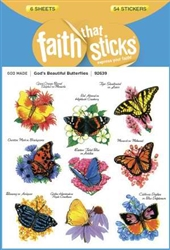 Sticker-God's Beautiful Butterflie: 9781414392639