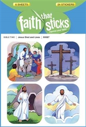 Sticker-Jesus Died & Lives : 9781414393087