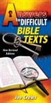 Answers to Difficult Bible Texts by Joe Crews: 9781580190084
