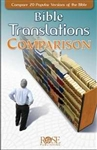 Bible Translations Comparison Pamphlet by Rose: 9781596361331