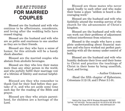 Beatitudes for Married Couples