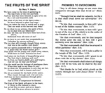 The Fruits of The Spirit- B/W