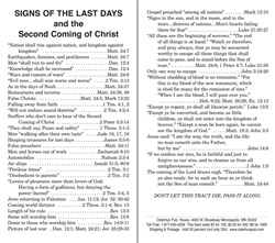 Signs of the Last Days and the Second Coming of Christ