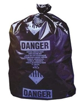"30x40"" Black ACM Waste Bags 100/rl"