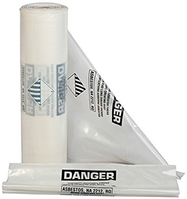 "33"" x 50"" Clear Full Weight ACM Waste Bags"