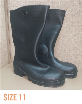 "Dunlop Chesapeake Lite & Mighty 14"" Steel Toe PVC Boot - SIZE 11"