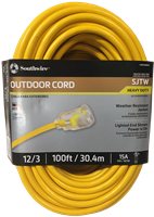 100' 12 Gauge Extension Cord