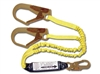 FrenchCreek Dual Leg Shock Absorbing 100% Tie Off Lanyard 444AS