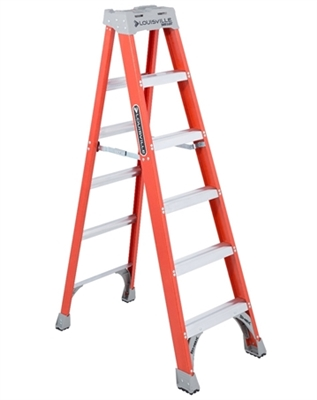 Series FS1500 6' Louisville Fiberglass Step Ladder