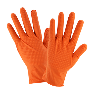 West Chester 7 Mil Orange Textured Nitrile Gloves