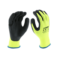 West Chester Hi-Vis Green Crinkle Latex Palm Glove