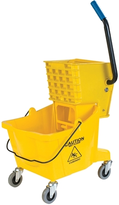 Heavy Duty Mop Bucket with Wringer Assembled