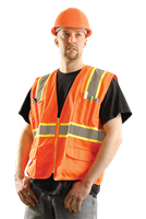 Hi-Vis Classic Solid Two-Tone Surveyor Safety Vest