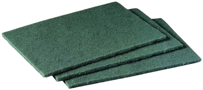 "6"" x 9"" Heavy Duty Scrub Pads - Green"