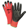 West Chester Zone Defense; Red Nylon Shell with Black Nitrile Foam Palm Coated Glove
