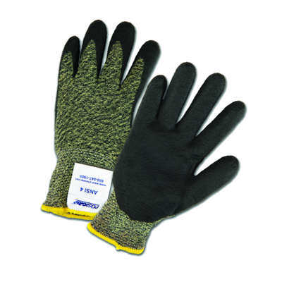 West Chester Kevlar Aramid Black Sponge Nitrile Palm Glove