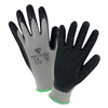 West Chester Black Crinkle Latex Palm Dip Glove