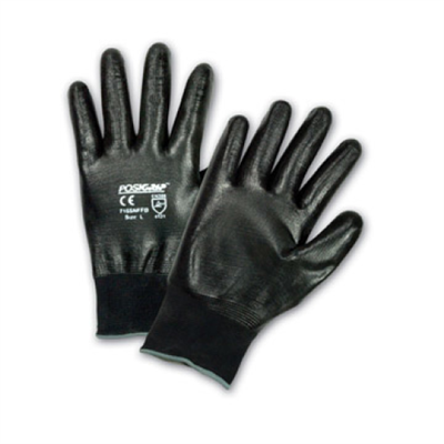 West Chester Black Full Hand Flat Nitrile Dipped Glove