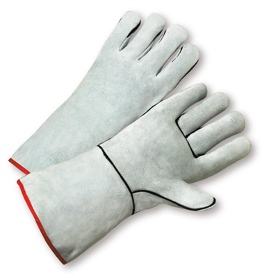 West Chester Standard Split Cowhide Gray Kevlar Thread Glove