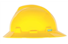 MSA V-Gard Full Brim Hard Hat with Ratchet Suspension