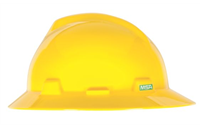 MSA V-Gard® Full Brim Hard Hat with Ratchet Suspension