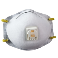 3M #8511 N95 Dust Mask With Exhalation Valve